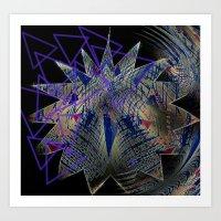 Triangle tangle Art Print