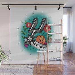 Old-School Spurs Love Wall Mural