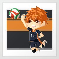 haikyuu Art Prints featuring Haikyuu!! by Nozubozu