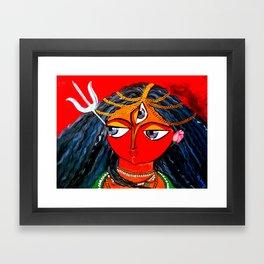 Durga, The Warrior Goddess 2: Commissioned art Framed Art Print