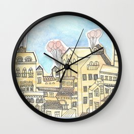 Space Town Wall Clock