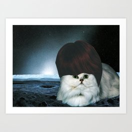 Ginger Spacecat Art Print