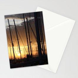 Marina sunset - Greece - Landscape and Rural Art Photorgaphy Stationery Cards