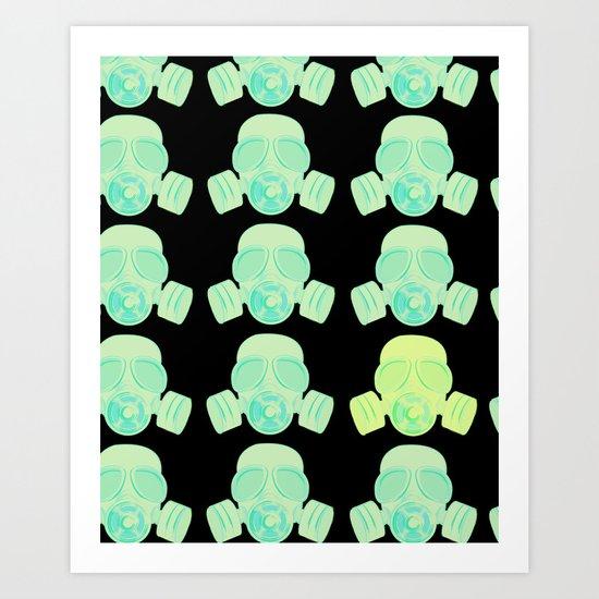 Gas Mask Design Art Print