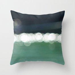 Sea Bokeh Throw Pillow