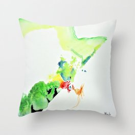 Chicken Thought Throw Pillow