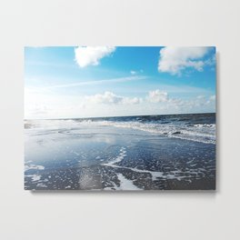 North Sea Beach Metal Print