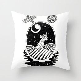 UFO Farm Sighting Throw Pillow