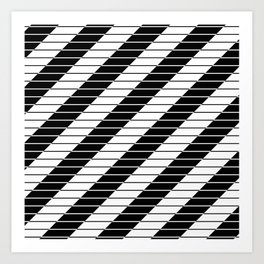 Simply Black And White (Abstract, geometric design) Art Print