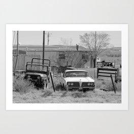 abandoned car Art Print
