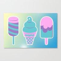 novelty Canvas Prints featuring Sugarpop Novelty Ice Cream by KawaiiMachine