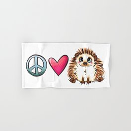 Peace, Love and Hedgehogs Hand & Bath Towel