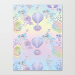 Seashell Wallpaper Canvas Print