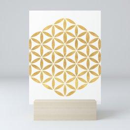 FLOWER OF LIFE sacred geometry Mini Art Print