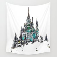 cinderella Wall Tapestries featuring Cinderella Castle by WDWCEC23