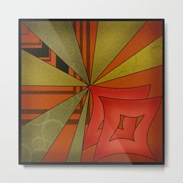 Abstraction. Sunset. Metal Print