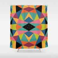 kaleidoscope Shower Curtains featuring Kaleidoscope by Andy Westface