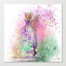Watercolor Bottle Canvas Print