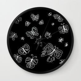 just fly Wall Clock
