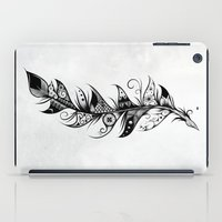 feather iPad Cases featuring Feather by LouJah
