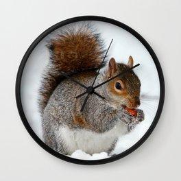 Winter Squirrel Wall Clock