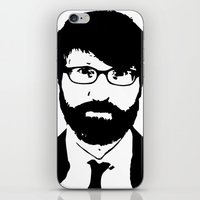 chuck iPhone & iPod Skins featuring chuck klosterman by looseleaf