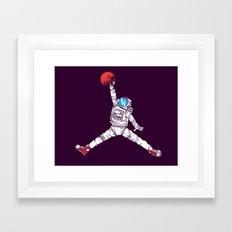 space dunk (purple ver.) Framed Art Print