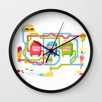 food Wall Clocks featuring Food by Fightstacy