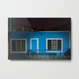 Blue House on a Hill - San Francisco Metal Print