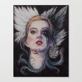 A portrait of claire Canvas Print