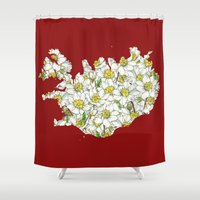 iceland Shower Curtains featuring Iceland by Ursula Rodgers