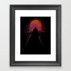 Dark heroe Framed Art Print
