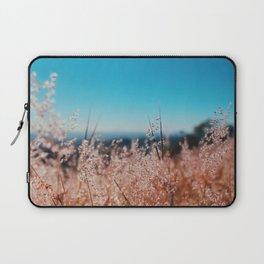 Whispering Grass Turquoise Sky Laptop Sleeve