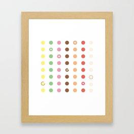DOUGHNUT DOTS Framed Art Print