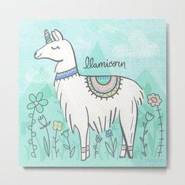 Llamicorn Metal Print