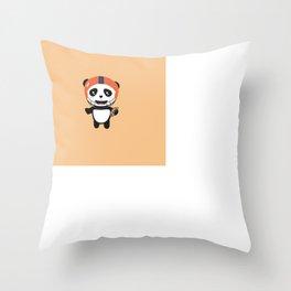 Football Panda with ball T-Shirt D9w5x Throw Pillow