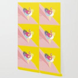 Pink Flamingo Summer Ice cream scoops #summervibes Wallpaper