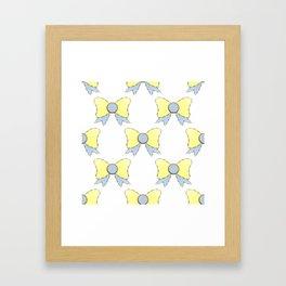 sky blue and daisy yellow bows 1 Framed Art Print