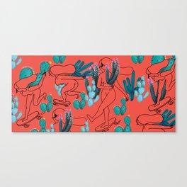 Picking cactus Canvas Print