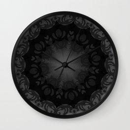 Dark Mandala #1 Wall Clock