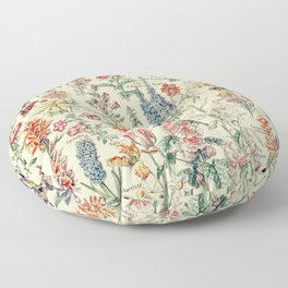 Vintage Floral Drawings // Fleurs by Adolphe Millot XL 19th Century Science Textbook Artwork Floor Pillow