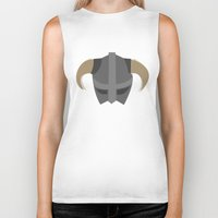skyrim Biker Tanks featuring The Saviour of Skyrim by E_Nicholson