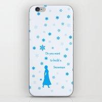 snowman iPhone & iPod Skins featuring Snowman by BlackBlizzard