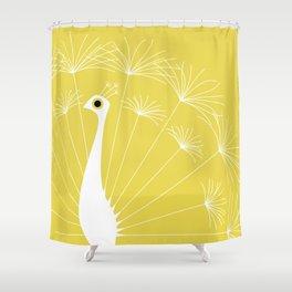 Dandelion Peacock Shower Curtain