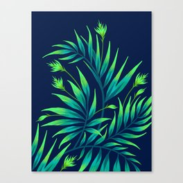 Waikiki Palm - Green Canvas Print