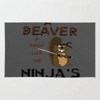 beaver Area & Throw Rugs featuring Beaver by Derek Donovan