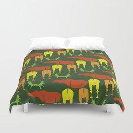 Green Moose Pattern Duvet Cover