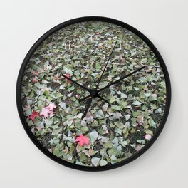 green ginkgo wishes Wall Clock