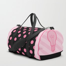 Pastel Pink Light Bulb Duffle Bag
