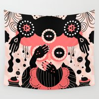 weird Wall Tapestries featuring Hallucination by Muxxi
